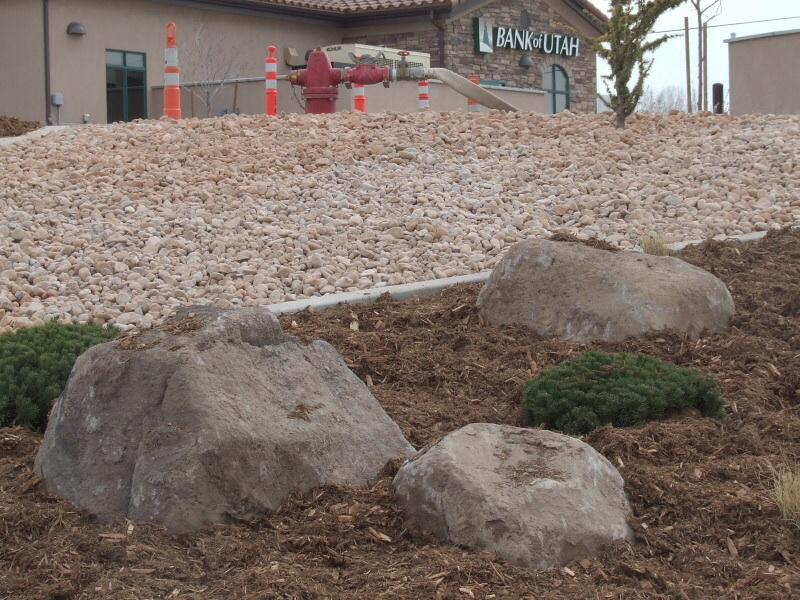 walnut boulders utah landscaping rock
