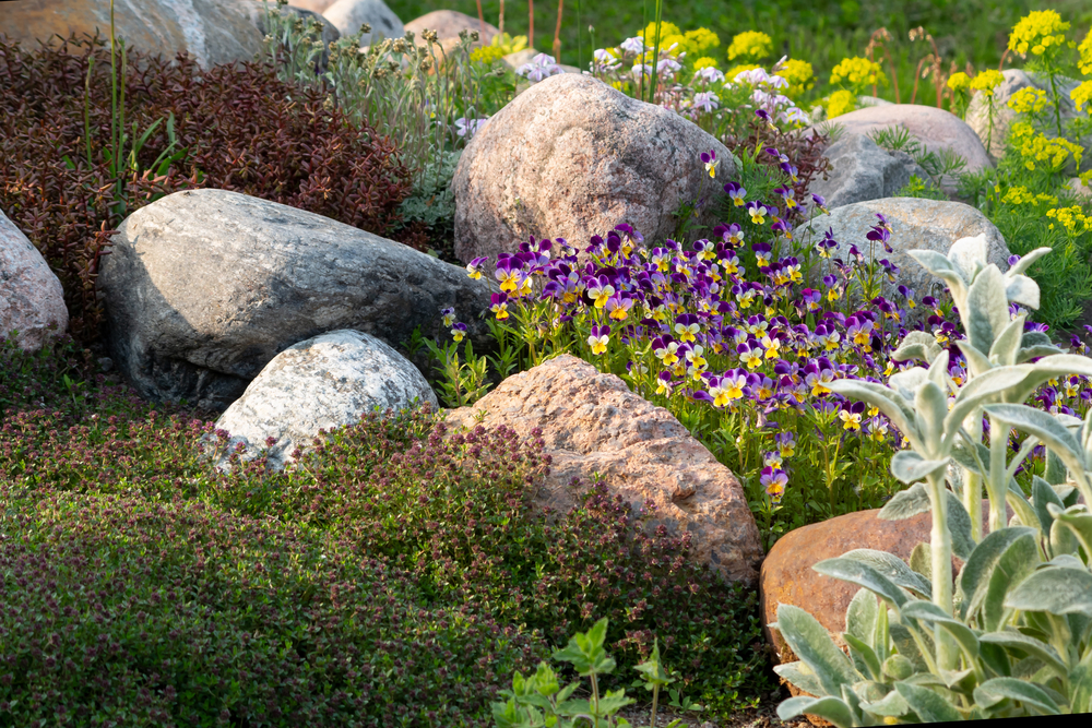 Boulders for landscaping improve property